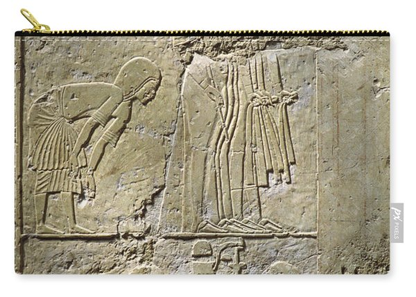 Private Tombs -painting West Wall Tomb Of Ramose T55 - Stock Image - Fine Art Print - Thebes Carry-all Pouch