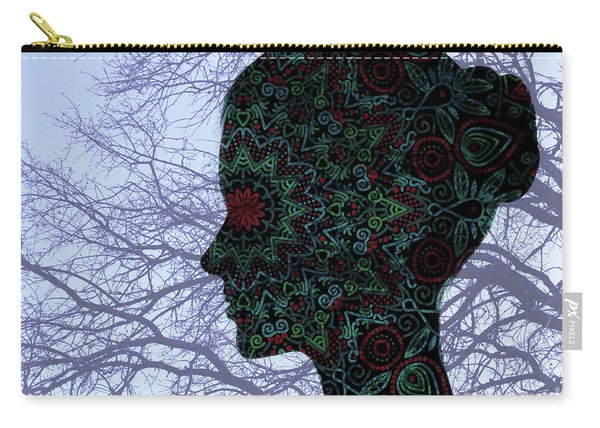 Profile Portrait Of Young Beautiful Woman. Carry-all Pouch