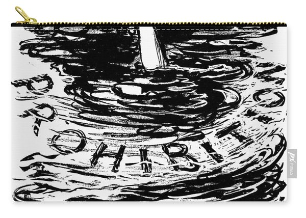 Prohibition Cartoon, 1920s - To License For Professional Use Visit Granger.com Carry-all Pouch