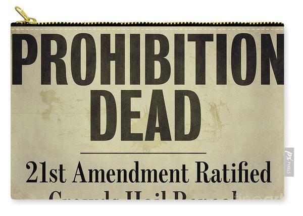 Prohibition Dead Newspaper Carry-all Pouch