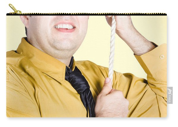 Promoted Employee Climbing Up Corporate Rope Carry-all Pouch