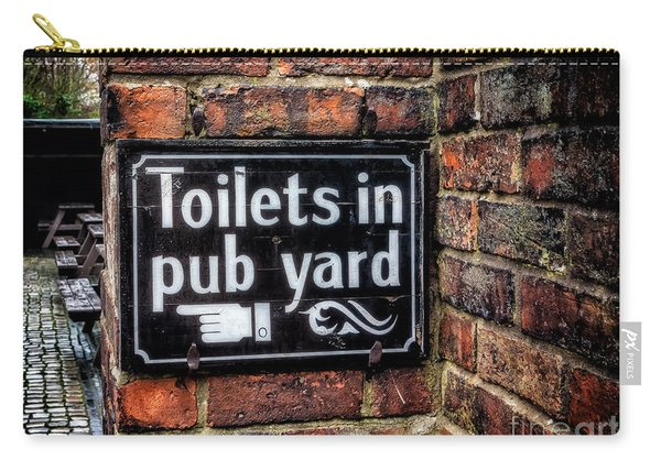 Pub Sign Carry-all Pouch
