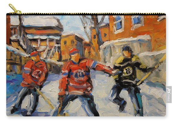 Puck Control Hockey Kids Created By Prankearts Carry-all Pouch