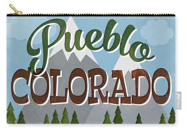 Pueblo Colorado Snowy Mountains Carry-all Pouch