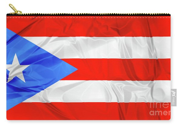 Carry-all Pouch featuring the photograph Puerto Rico Flag by Benny Marty