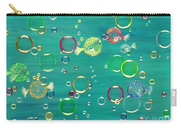 Pufferfish Rainbow Carry-all Pouch