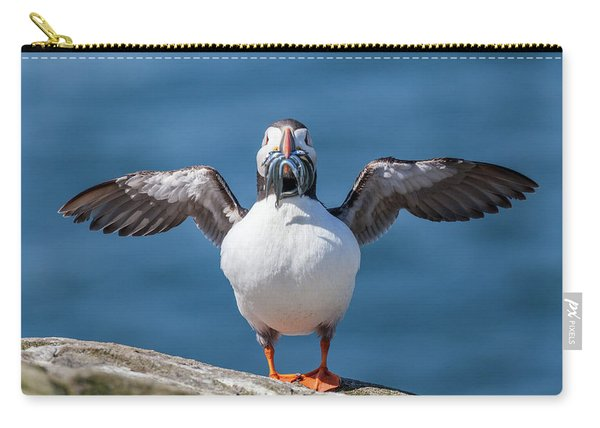 Puffin With Fish For Tea Carry-all Pouch