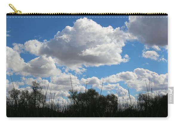 Carry-all Pouch featuring the photograph Puffy Sky  by Christy Pooschke