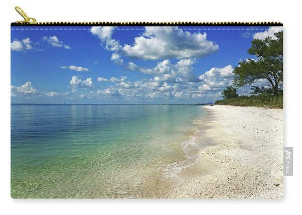 Puffy White Clouds At Delnor-wiggins Carry-all Pouch