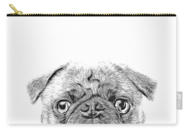 Pug Dog Sketch Carry-all Pouch