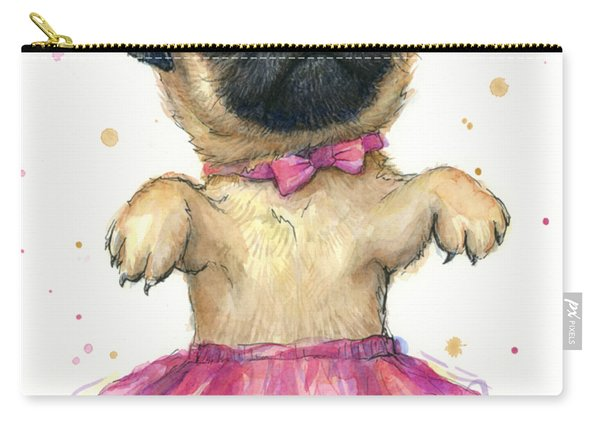 Pug In A Tutu Carry-all Pouch