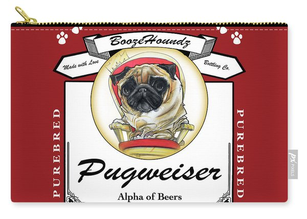 Pugweiser Beer Carry-all Pouch