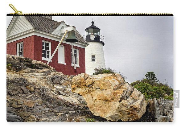 Pumphouse And Tower, Pemaquid Light, Bristol, Maine  -18958 Carry-all Pouch