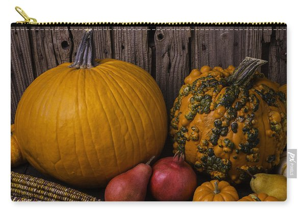 Pumpkin Autumn Still Life Carry-all Pouch