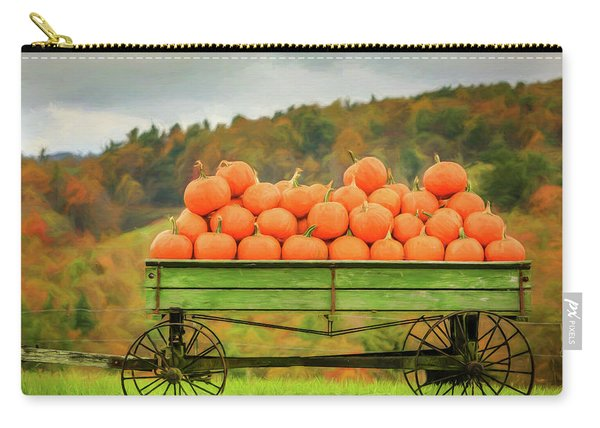 Pumpkins On A Wagon Carry-all Pouch
