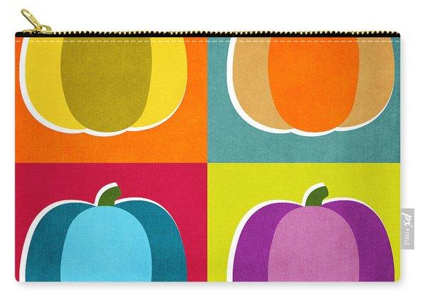 Pumpkins- Pop Art By Linda Woods Carry-all Pouch