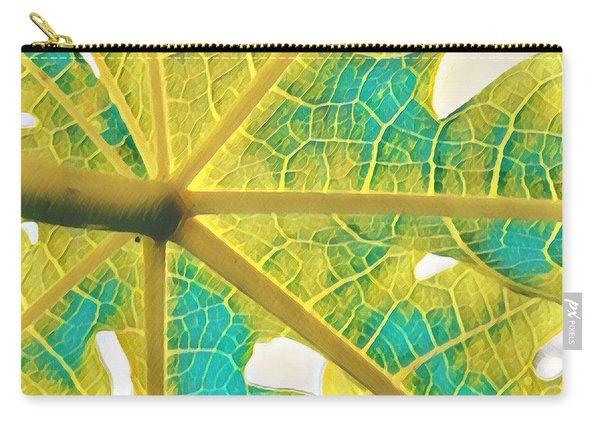 Puna Papaya Leaf Carry-all Pouch