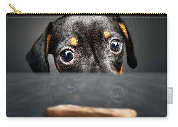 Puppy Longing For A Treat Carry-all Pouch