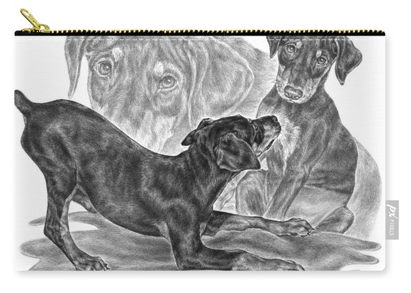 Puppy Love - Doberman Pinscher Pup Carry-all Pouch