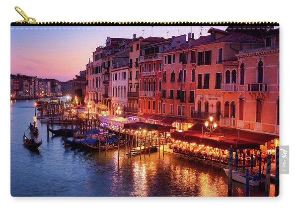 Cityscape From The Rialto In Venice, Italy Carry-all Pouch