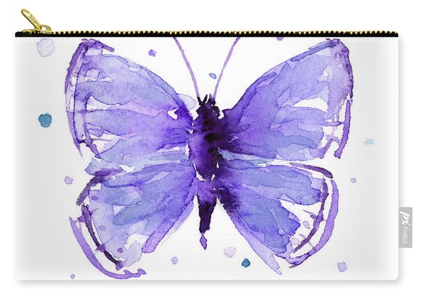Purple Abstract Butterfly Carry-all Pouch