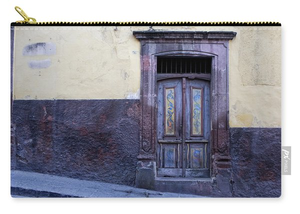 Purple And Blue Door Mexico Carry-all Pouch