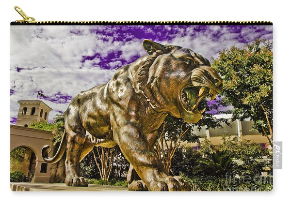 Purple And Gold Carry-all Pouch