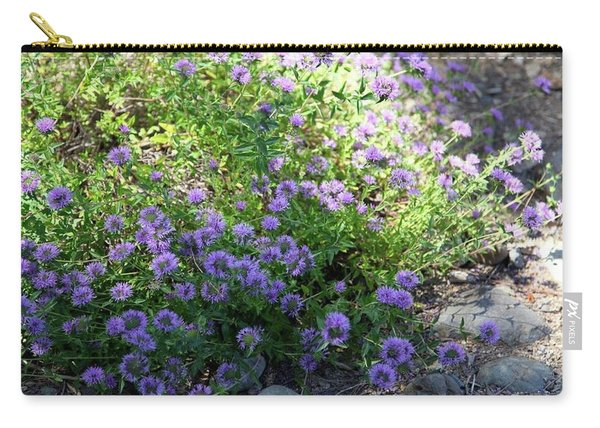 Purple Bachelor Button Flower Carry-all Pouch