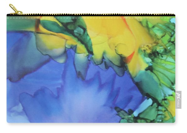Purple Bird Of Paradise Carry-all Pouch