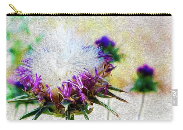 Purple Chaparral  Carry-all Pouch