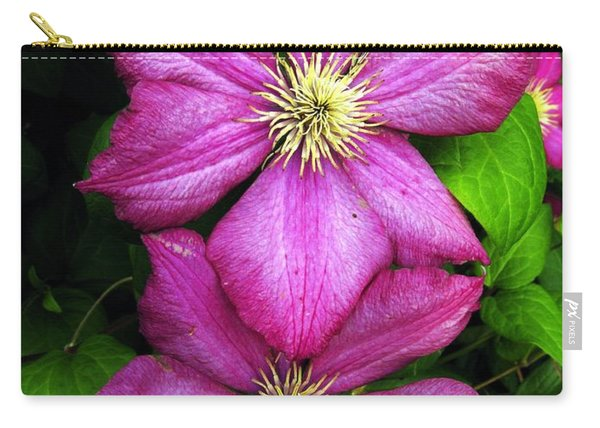 Purple Clematis 2 Carry-all Pouch