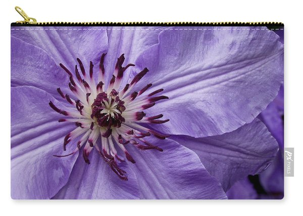 Purple Clematis Blossom Carry-all Pouch