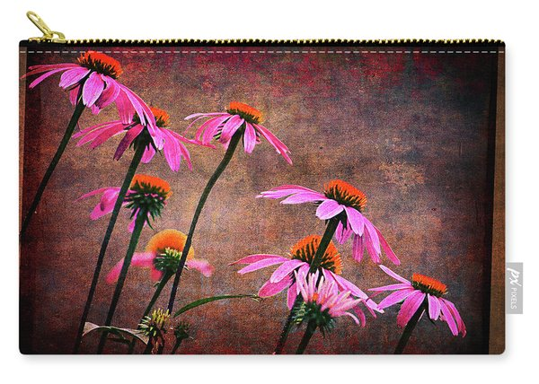 Purple Coneflowers Out Of Alignment  Carry-all Pouch