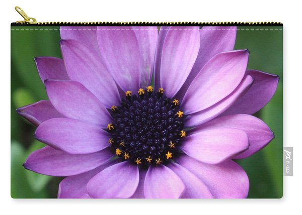 Purple Daisy Square Carry-all Pouch