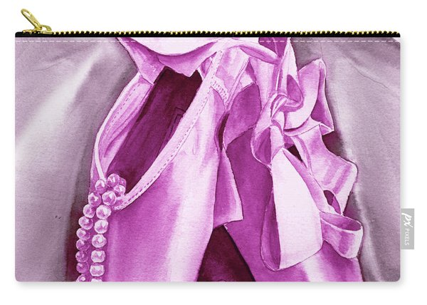 Purple Dancing Shoes Carry-all Pouch