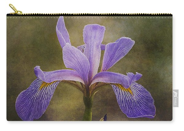 Carry-all Pouch featuring the photograph Purple Flag Iris by Patti Deters