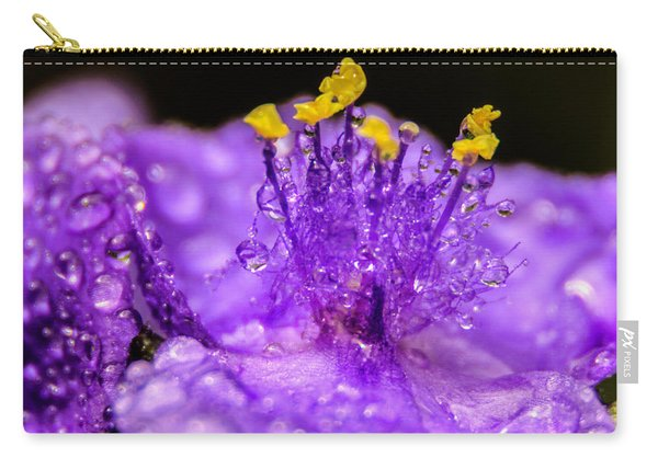 Purple Flower After The Rain Carry-all Pouch