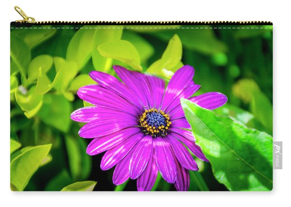 Purple Flower Carry-all Pouch
