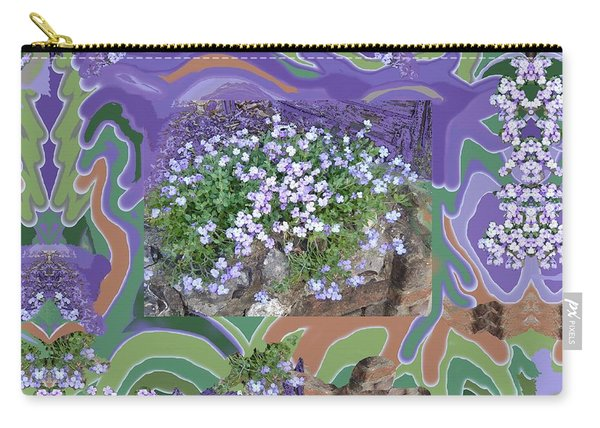 Purple Flower Textured Photo 1028d Carry-all Pouch