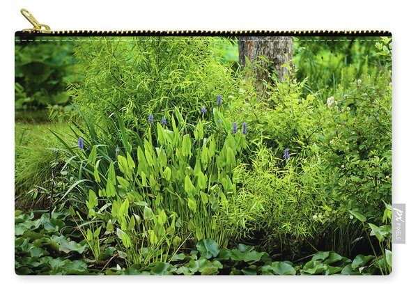 Purple Flowers By The Ponds Edge Carry-all Pouch