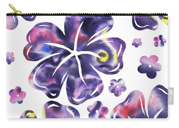 Purple Flowers Dance Carry-all Pouch