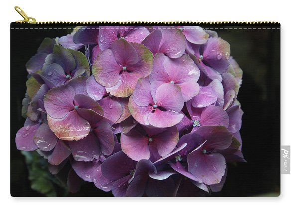 Purple Hydrangea- By Linda Woods Carry-all Pouch