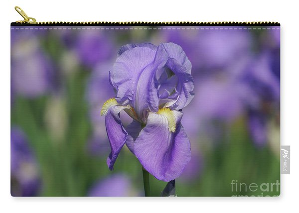 Purple Iris Fields Forever Carry-all Pouch