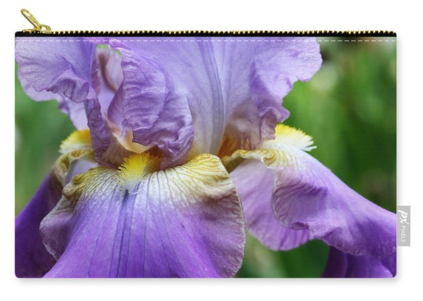 Purple Iris Flower Carry-all Pouch