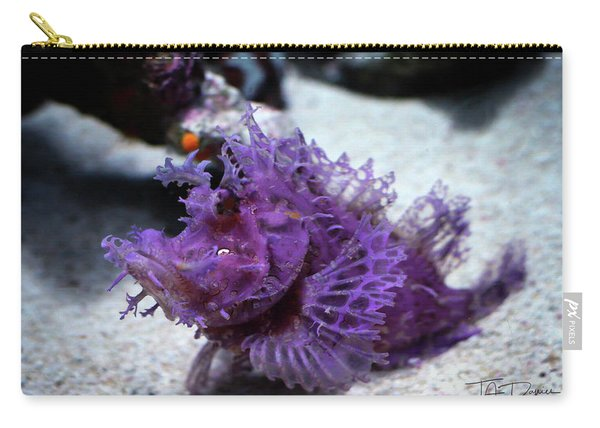 Purple Lace Carry-all Pouch