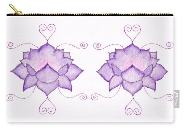 Purple Lotus II Carry-all Pouch