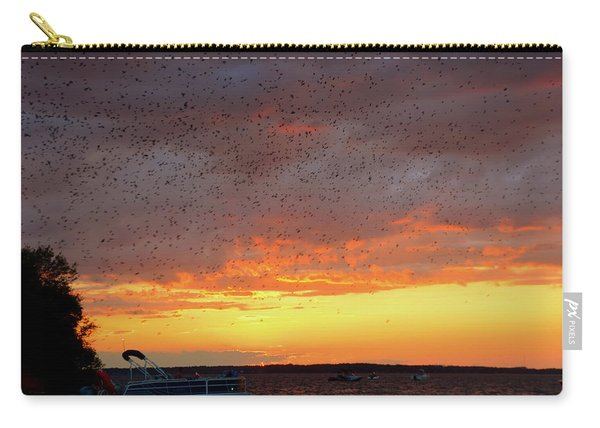 Purple Martin Sunset On Lake Murray Sc Carry-all Pouch