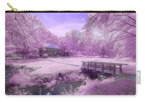 Carry-all Pouch featuring the photograph Purple Mill by Brian Hale