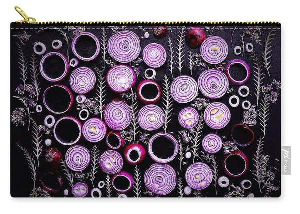 Purple Onion Patterns Carry-all Pouch