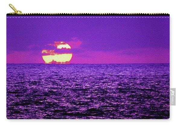 Purple Pacific With Sandstone Texture Carry-all Pouch